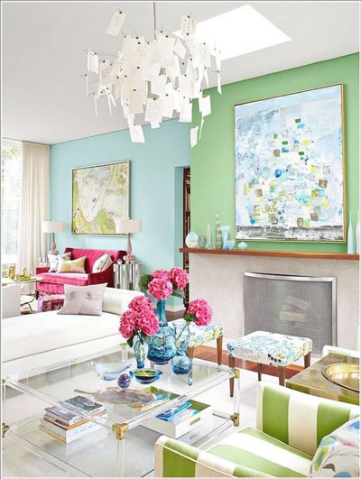 multicolor living room