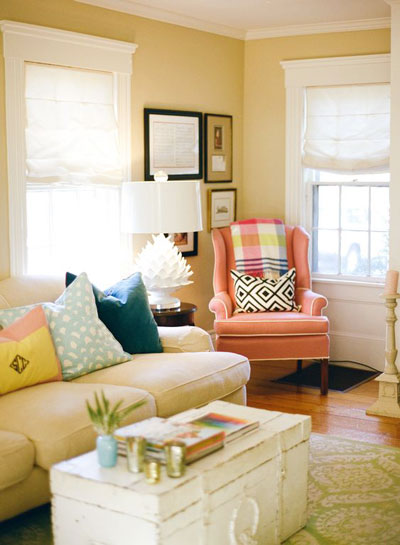 pastel color living room