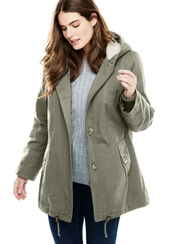 hooded parka jacket