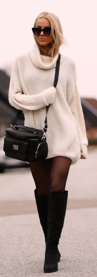 oversized sweater with turtle neck