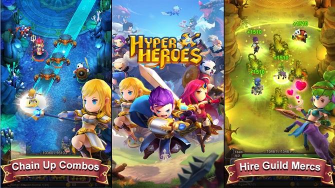 Hyper heroes game play