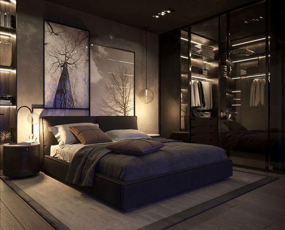 modern man bedroom