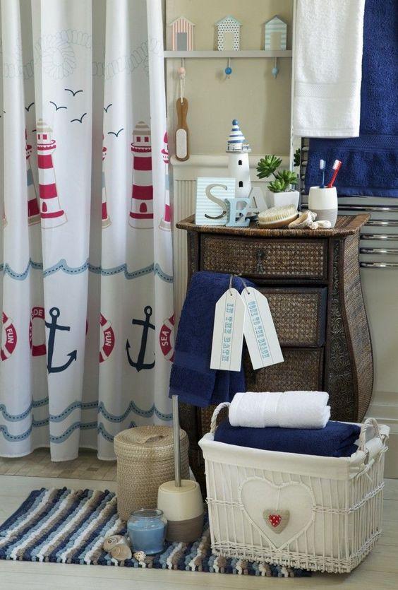 nautical bathroom accessories set